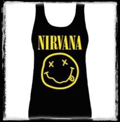 NIRVANA: Smiley Logo női trikó