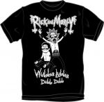 RICK AND MORTY: WUBBA LUBBA  metal T-shirt- black (RENDELÉSRE)