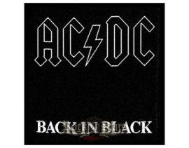 AC/DC: Back in black...  (10x10 cm) szövött  kis felvarró