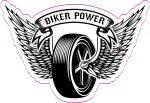 BIKER POWER  felvarró  (hímzett, 7x10 cm)