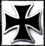 VASKERESZT: Iron Cross  kis felvarró  (hímzett)