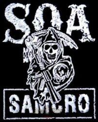 Sons of anarchy 4. kis felvarró  (hímzett, 9x11 cm)