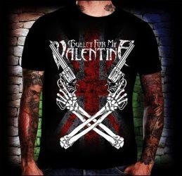 BULLET FOR MY VALENTINE: Cross Guns póló (RENDELÉSRE)