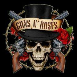 GUNS N ROSES: Logo 3.  kis felvarró (9,5X9,5 cm)