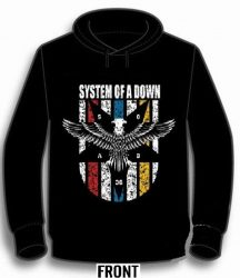 KAPUCNIS PULÓVER: SYSTEM OF A DOWN- Eagle (BEBÚJÓS GILDAN) (RENDELÉSRE)