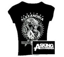 ASKING ALEXANDRIA: Snake női póló  (RENDELÉSRE)