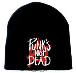 KÖTÖTT SAPKA: Punks not dead - logo (RENDELÉSRE)