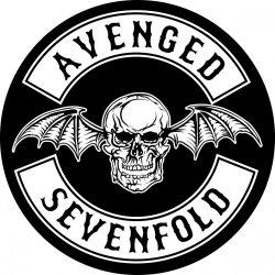 AVENGED SEVENFOLD: logo kis felvarró (hímzett)