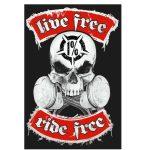 1 % Ride free...(hímzett) (RENDELÉSRE)