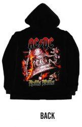 KAPUCNIS PULÓVER: AC/DC- Hells bells  (CIPZÁRAS) (RENDELÉSRE)