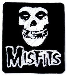MISFITS: Skull   kis felvarró (hímzett 9x10 cm)