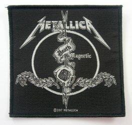 METALLICA: Death  magnetic  kis felvarró (10x10 cm) (szövött)