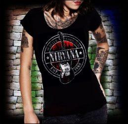 NIRVANA: Guitar Seattle női póló (RENDELÉSRE)