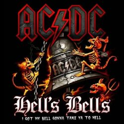 AC/DC: Hell's Bells   kis felvarró  (10x10 cm)