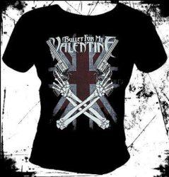 BULLET FOR MY VALENTINE: Cross Guns női póló  (RENDELÉSRE)