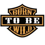 HÁTFELVARRÓ-BORN TO BE  WILD (hímzett, rendelésre)