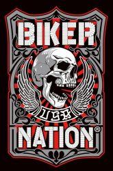 Biker nation kis felvarró (hímzett)