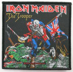 IRON MAIDEN:The Trooper 2. szövött  kis felvarró (10x10 cm)