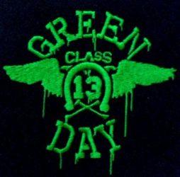 GREEN DAY: Class 13... kis felvarró (hímzett)