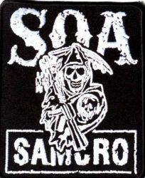 Sons of anarchy 2. kis felvarró  (hímzett)