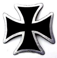 VASKERESZT 2.  hímzett kis felvarró (9,5x9,5 cm)