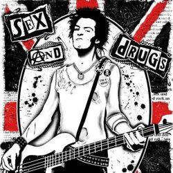 SEX PISTOLS: Sex, drogs... kis felvarró (10x10 cm)