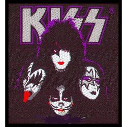 KISS: 4 faces (9,5x9,5 cm)  szövött kis felvarró