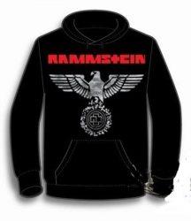 KAPUCNIS PULÓVER: RAMMSTEIN- Eagle white (BEBÚJÓS GILDAN) (RENDELÉSRE)