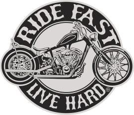 Ride fast kis felvarró (hímzett)