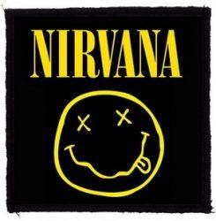NIRVANA: Smiley logó  kis felvarró 1.  (9,5x9,5 cm)