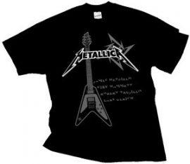 METALLICA: Guitar póló (RENDELÉSRE)