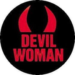 DEVIL WOMAN kitűző
